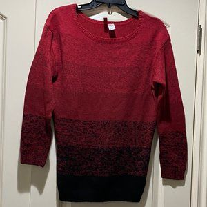 Divided by H&M Red/Black Ombré Knit Sweater Tunic